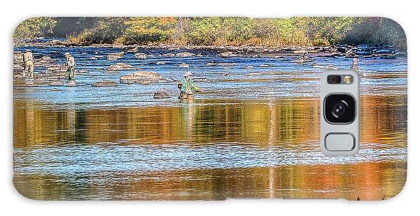 Fall Fishing Reflections Galaxy Case