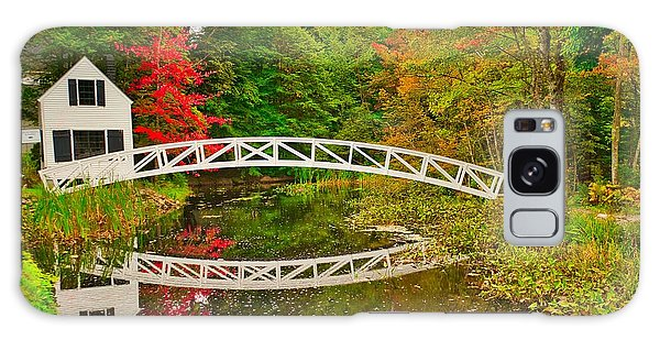 Fall Footbridge Reflection Galaxy Case
