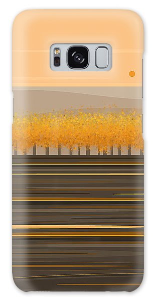 Fall Trees In A Row Galaxy Case