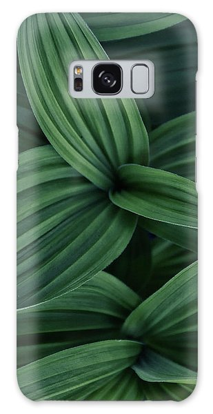 Galaxy Case featuring the photograph False Hellebore Plant Abstract by Nathan Bush