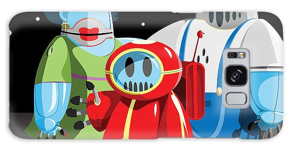 Outer Space Galaxy Case - Family Of Moon Robots by Willdidthis