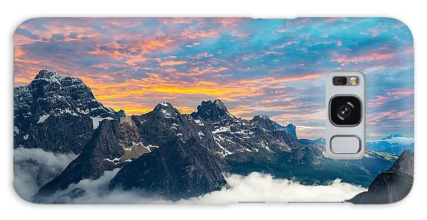 Scenery Galaxy Case - Famous Italian National Park Tre Cime by Scorpp