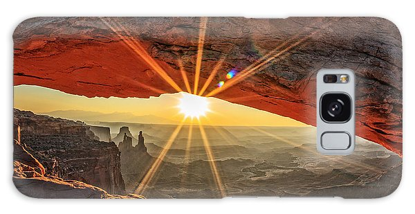 Travel Destinations Galaxy Case - Famous Sunrise At Mesa Arch In by Prochasson Frederic