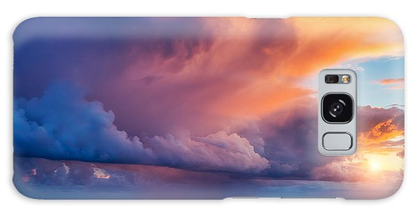 Dawn Galaxy Case - Fantastic View Of The Dark Overcast by Creative Travel Projects