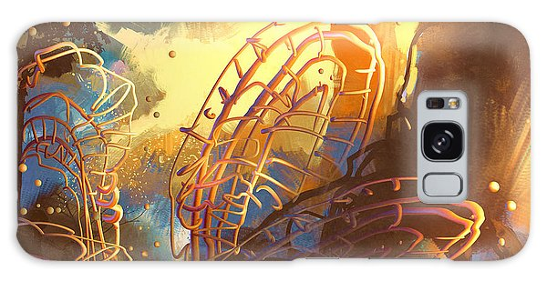 Glow Galaxy Case - Fantasy Forest With Abstract by Tithi Luadthong