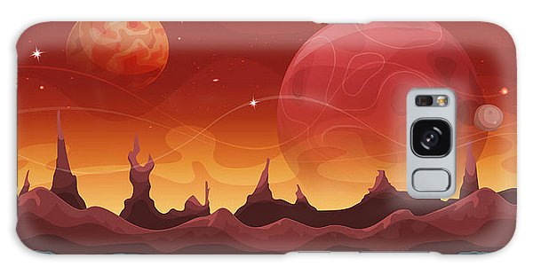Cloudscape Galaxy Case - Fantasy Sci-fi Martian Background For by Benchart
