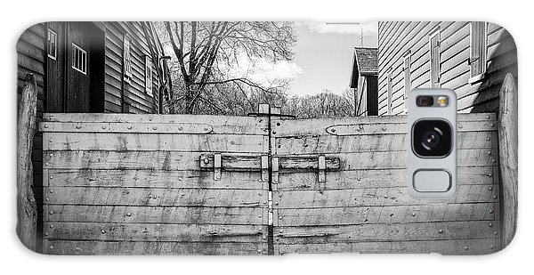 Galaxy Case featuring the photograph Farm Gate by Steve Stanger