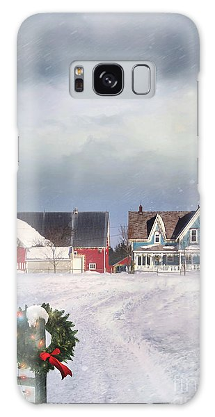 Galaxy Case featuring the photograph Farmhouse On Cold Winter Day by Sandra Cunningham