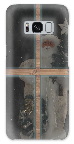 Father Christmas In Window Galaxy Case