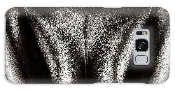 Body Parts Galaxy Case - Female Nude Silver Oil Close-up 2 by Johan Swanepoel