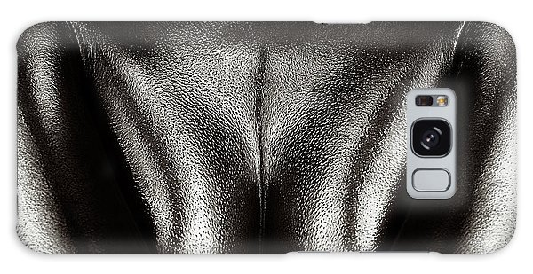 Breast Galaxy Case - Female Nude Silver Oil Close-up 2 by Johan Swanepoel