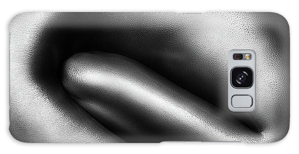 Body Parts Galaxy Case - Female Nude Silver Oil Close-up 3 by Johan Swanepoel