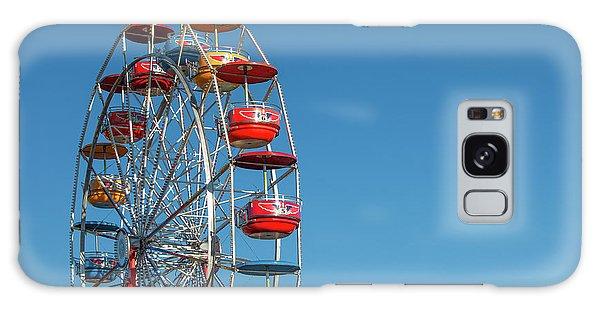 County Fair Galaxy Case - Ferris Wheel On Blue by Todd Klassy