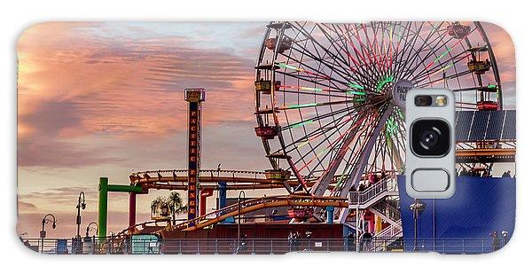 Ferris Wheel On The Pier - Square Galaxy Case