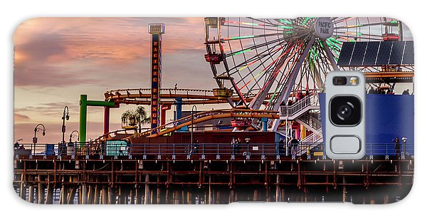 Ferris Wheel On The Pier - Square Galaxy Case