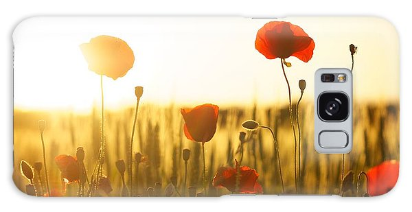 Field Of Poppies At Dawn Galaxy Case