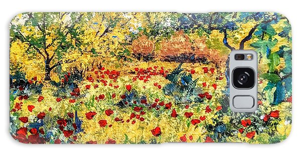 Galaxy Case featuring the painting Field Of Poppies by Ray Khalife
