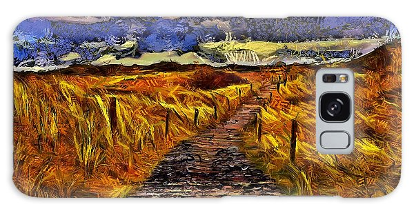Galaxy Case featuring the painting Fields Of Gold by Harry Warrick