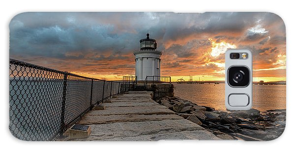 Fiery Skies At Bug Light Galaxy Case