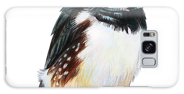 Realistic Galaxy Case - Finches Bird Drawing Taeniopygia Guttata by Viktoriya art