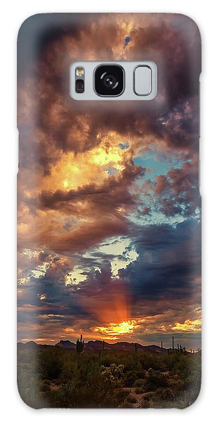 Finger Painted Sunset Galaxy Case