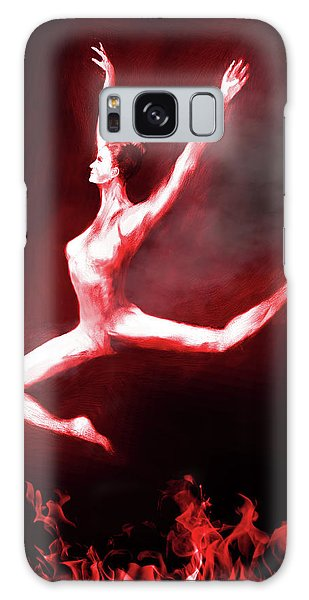 Galaxy Case - Fire Dancer by Digital Painting