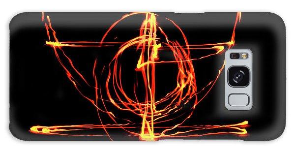 Fire Light Drawing Galaxy Case