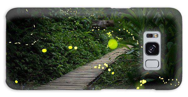 Scenery Galaxy Case - Fireflies In The Bush At Night In Taiwan by Richie Chan