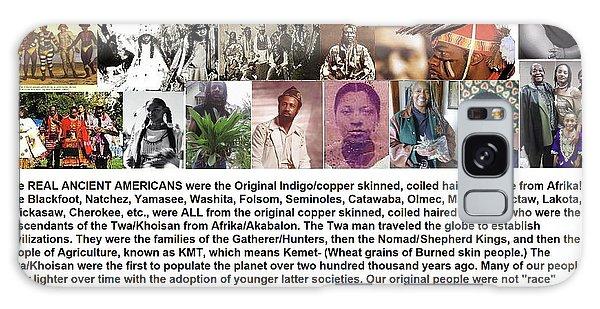 First Native Americans Were Indigo Twa Black Afrikans Galaxy Case