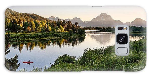 Scenery Galaxy Case - Fisherman On Snake River, Grand Teton by Loneroc
