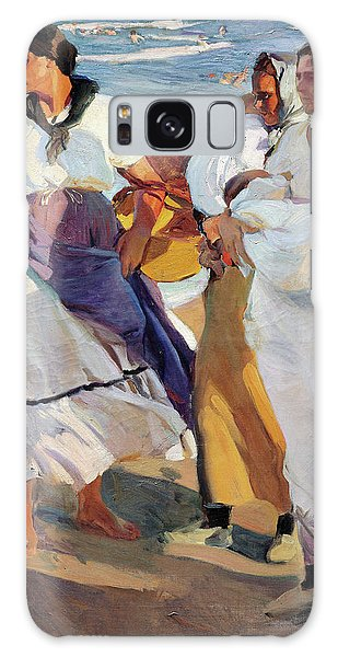 Country Living Galaxy Case - Fisherwomen From Valencia - Digital Remastered Edition by Joaquin Sorolla