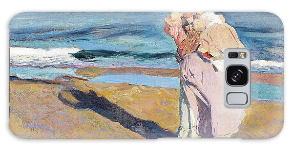 Country Living Galaxy Case - Fisherwomen With Her Son - Digital Remastered Edition by Joaquin Sorolla