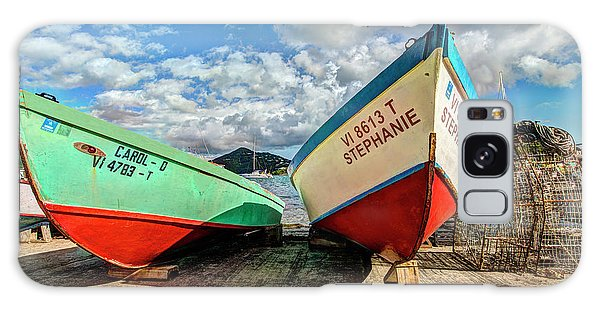 Fishing Boats In Frenchtown Galaxy Case