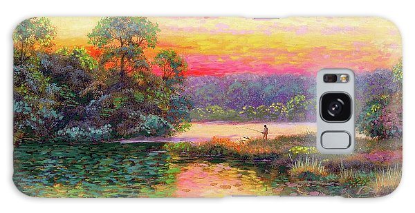 Oklahoma Galaxy Case - Fishing In Evening Glow by Jane Small