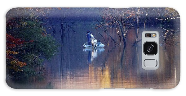 Galaxy Case featuring the photograph Fishing In The Fall by Mike Murdock