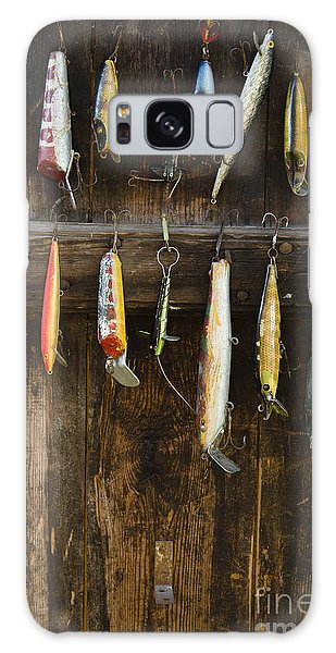No People Galaxy Case - Fishing Lure Hanging On Wall, Sandham by Bmj