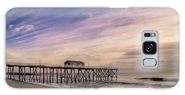 Galaxy Case featuring the photograph Fishing Pier Sunrise by Steve Stanger