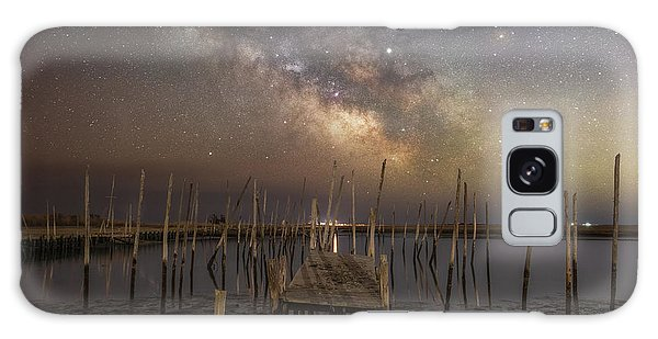 Board Walk Galaxy Case - Fishing Pier Under The Milky Way  by Michael Ver Sprill