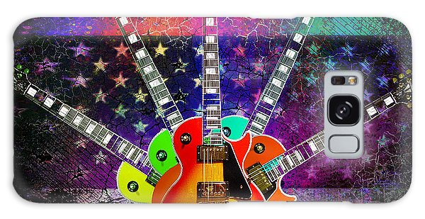 Galaxy Case featuring the photograph Five Guitars by Guitar Wacky