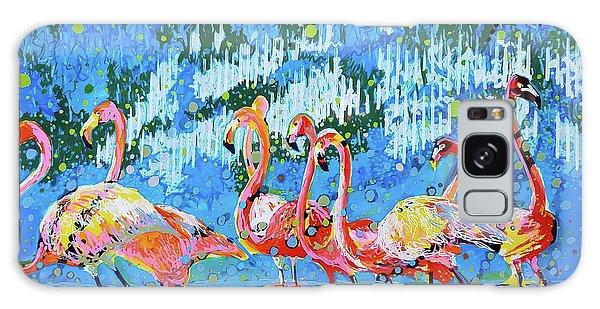 Flamingo Pat Party Galaxy Case
