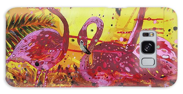 Flamingo Sunset Galaxy Case
