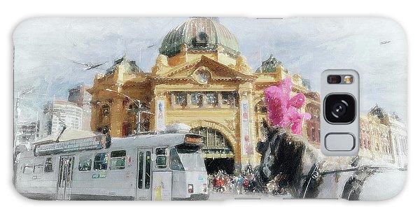 Flinders Street Station, Melbourne Galaxy Case