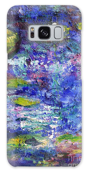 Floating Lilies Oil Painting Galaxy Case