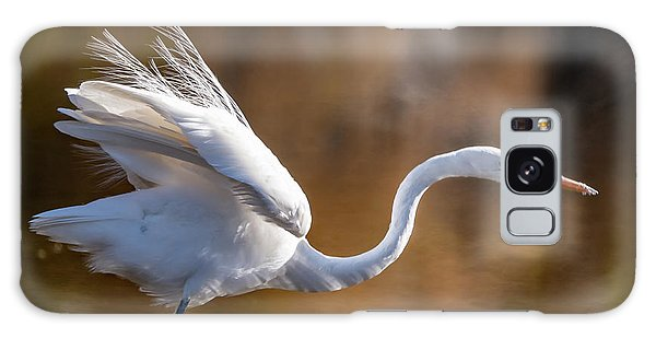 Floofy Egret Galaxy Case