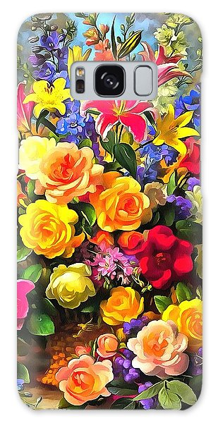 Floral Bouquet In Acrylic Galaxy Case