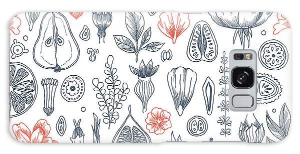 Historical Galaxy Case - Floral Elements Background. Linear by Adehoidar