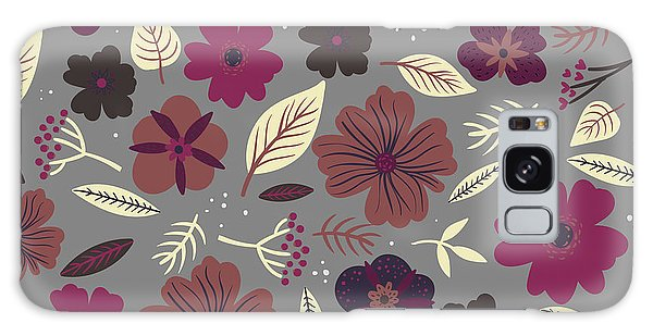 Imagery Galaxy Case - Floral Seamless Pattern. Colored by Maria Sem