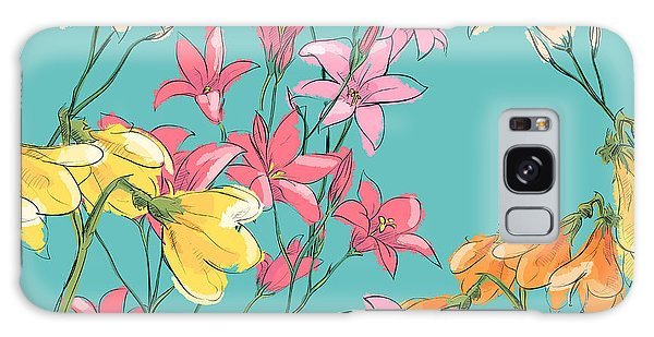 Branch Galaxy Case - Floral Seamless Pattern. Sketch Style by R lion o