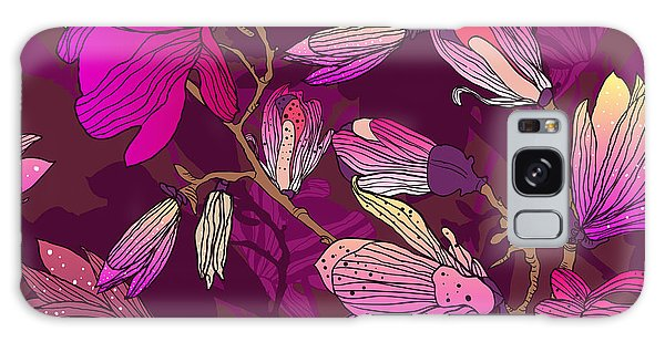 Branch Galaxy Case - Floral Seamless Pattern With Drawing by Lola Tsvetaeva
