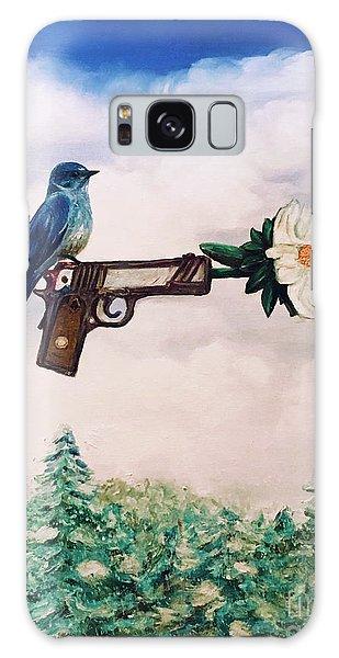 Flower In A Gun- Bluebird Of Happiness Galaxy Case